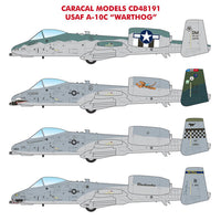 Caracal Models CD48191 1/48 USAF A-10C Warthog Decals 1/48