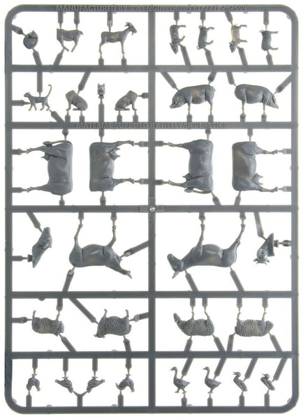 Farmyard Animals Single Sprue 1/56 (28mm) Warlord Games