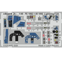 Eduard FE1092 1/48 BAC/EE Lightning F.2A/F.6 P.E. Set for Airfix