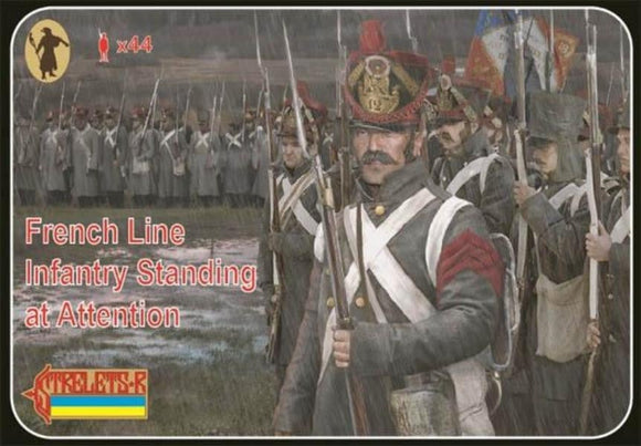 Strelets 184 1/72 French Line Infantry Standing at Attention - SGS Model Store