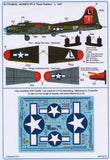 Kits-World KW132074 1/32 Boeing B-17G Texas Raiders Model Decals - SGS Model Store