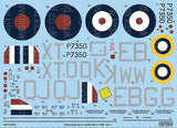Kits-World KW132103 1/32 Supermarine Spitfire Mk.IIa BBMF Part Three Model Decals - SGS Model Store