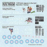 Kits-World KW148051 1/48 Sepecat Jaguar GR.1A 'Nose Art' Model Decals - SGS Model Store