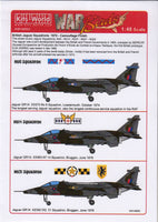 Kits-World KW148052 1/48 British Jaguar Squadrons Model Decals - SGS Model Store