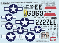 Kits-World KW148064 1/48 P-47D Thunderbolt Eight Nifties Model Decals - SGS Model Store