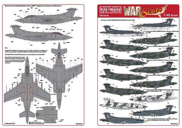 Kits-World KW148152 1/48 Blackburn Buccaneers S. Mk 2 Mk2A Mk2B