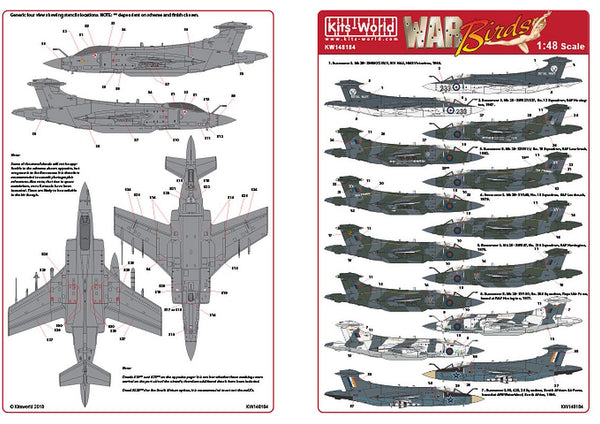 Kits-World KW148184 1/48 Blackburn Buccaneers S. Mk 2 Mk2A Mk2B