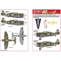 Kits-World KW148201 1/48 Republic P-47 Thunderbolts Razorbacks
