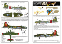 Kits-World KW172081 1/72 B-17 Flying Fortress 'Nine O Nine' Model Decals