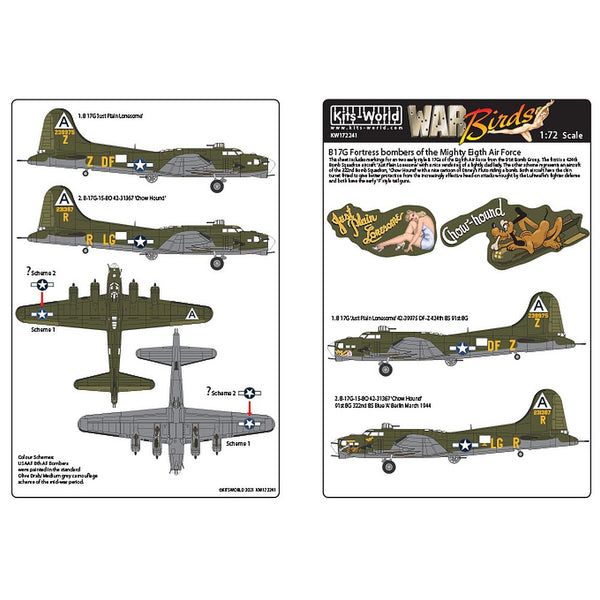 Kits-World KW172241 B-17G Bombers of the Mighty Eighth Air Force 1/72