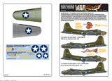 Kits-World KW172176 1/72 Boeing B-17E Flying Fortress of the Pacific Model Decals - SGS Model Store