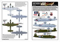 Kits-World KW172197 1/72 North-American B-25H Mitchell Model Decals - SGS Model Store