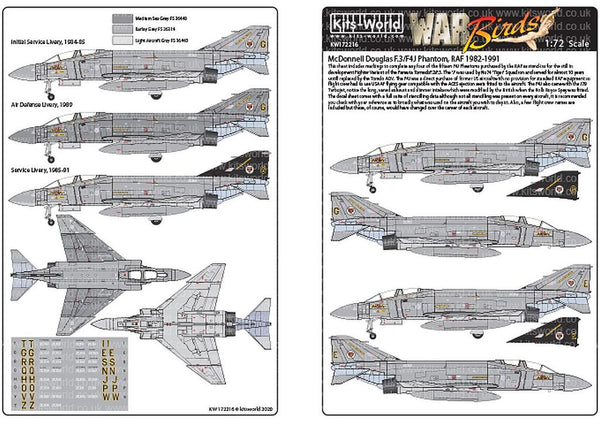 Kits-World KW172216 1/72 F4J Phantoms RAF