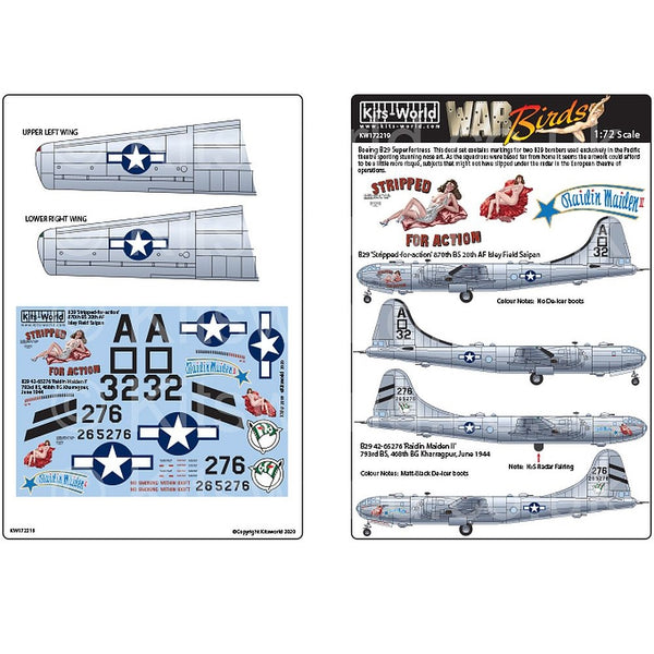 Kits-World KW172219 1/72 B-29 Superfortress 'Stripped-for-action'