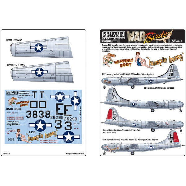 Kits-World KW172221 1/72 Boeing B-29 Superfortress 'Heavenly Body'