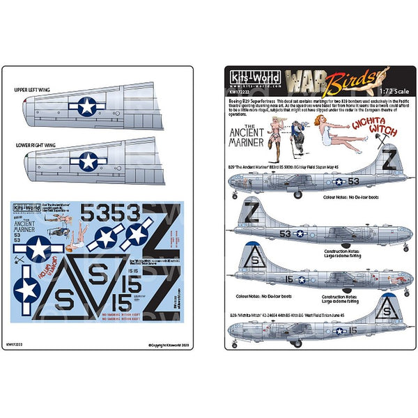 Kits-World KW172222 1/72 Boeing B-29 Superfortress 'The Ancient Mariner'