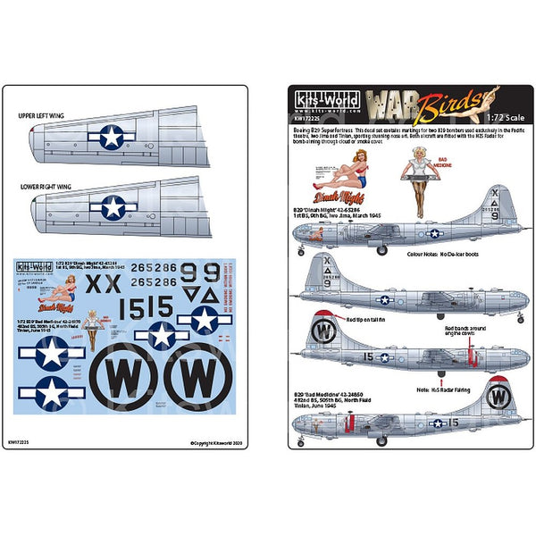 Kits-World KW172225 1/72 Boeing B-29 Superfortress 'Dinah Might'