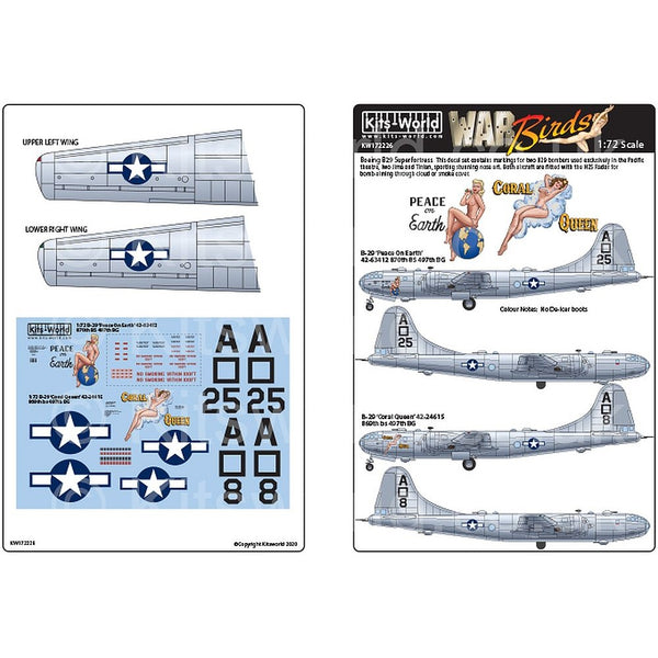 Kits-World KW172226 1/72 Boeing B-29 Superfortress 'Peace On Earth'
