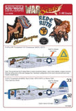 Kits-World KW148088 1/48 P-47 Thunderbolt Model Decals - SGS Model Store