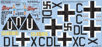 Kits-World KW148135 1/48 B17F/G Fortress Sentimental Journey Model Decals - SGS Model Store