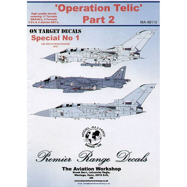 Model Alliance MA-48110 Operation TELIC Part 2 Decals 1/48