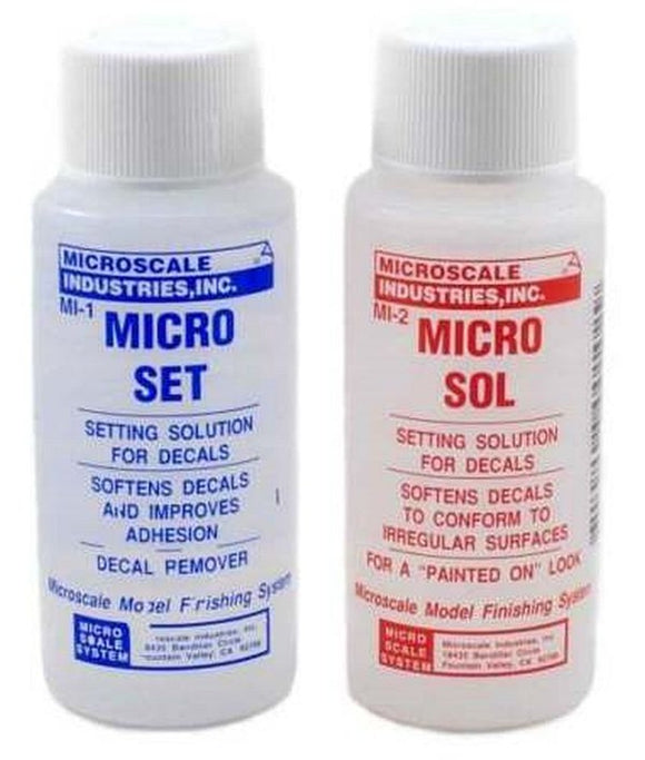 Microscale Industries Micro Sol & Micro Set Decal Solutions