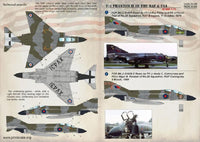 Print Scale 72-188 1/72 F-4 Phantom II of the RAF & FAA Model Decals - SGS Model Store