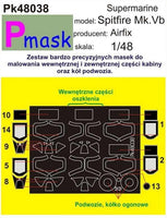 Pmask PK48038 1/48 Supermarine Spitfire Mk.VB Paint Mask - SGS Model Store