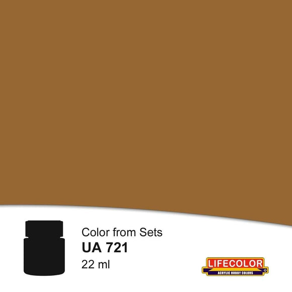 LifeColor UA721 Rail Sleeper Grime (22ml) FS 34031 Acrylic Paint - SGS Model Store