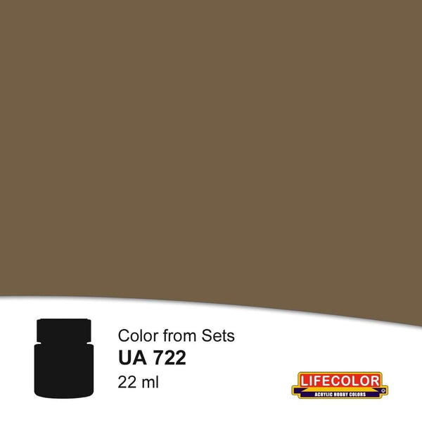 LifeColor UA722 Rail Roof Dirt (22ml) FS 36118 Acrylic Paint - SGS Model Store