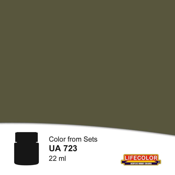 LifeColor UA723 Rail Weathered Black (22ml) FS 37038 Acrylic Paint - SGS Model Store