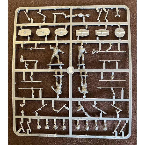 Victrix Gallic Naked Fanatics Single Sprue 1/56 (28mm)