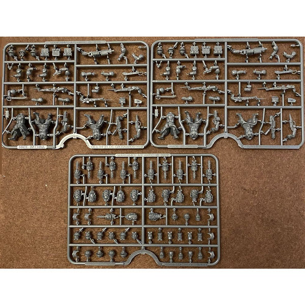Wargames Atlantic Death Fields 1/56 (28mm) Les Grognards Sprues + Heads