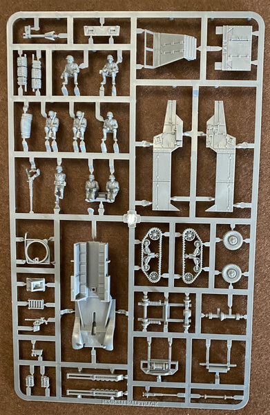 Plastic Soldier Company 1/72 Allied M3 Halftrack Sprue