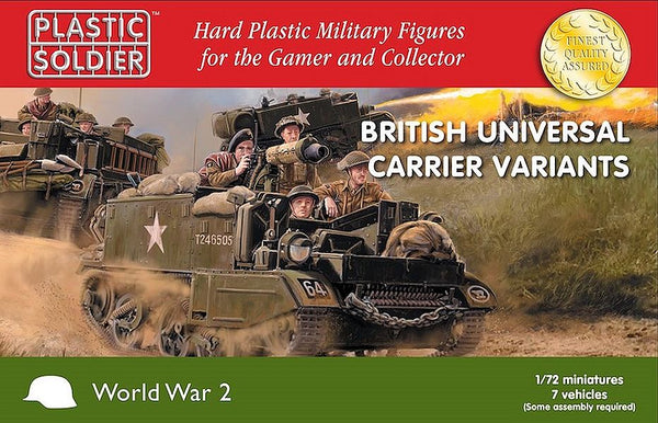 Plastic Soldier Company 1/72 British Universal Carrier Variants WW2V20033