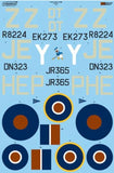 Xtradecal X24002 1/24 Hawker Typhoon Mk.Ib Car Door Model Decals