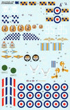 Xtradecal X32029 1/32 BAe Hawk T.1A Late overall black schemes Model Decals - SGS Model Store