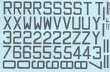 "Xtradecal X32047 1/32 RAF Code Letters Numbers 30"" Medium Sea Grey Model Decals - SGS Model Store"