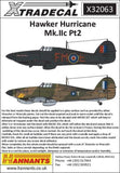 Xtradecal X32063 1/32 Hawker Hurricane Mk.IIc Pt 2 Model Decals - SGS Model Store