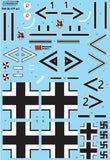 Xtradecal X32065 1/32 Messerschmitt Bf-109 Stab markings Pt 1 Model Decals