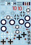 Xtradecal X32068 1/32 Messerschmitt Me-262 Model Decals - SGS Model Store