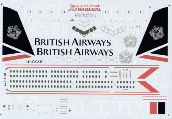 Xtradecal X44001 1/144 Boeing 777 BRITISH AIRWAYS Model Decals - SGS Model Store