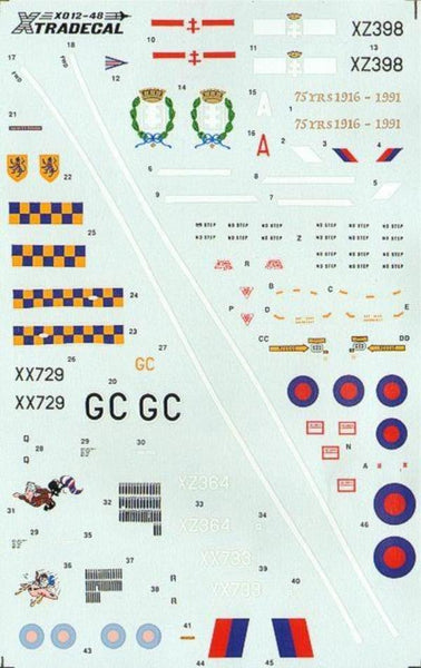 Xtradecal X48012 1/48 Sepecat Jaguar GR.1 Model Decals - SGS Model Store