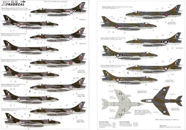 Xtradecal X48034 1/48 Hawker Hunter FGA.9/FR.10 Model Decals - SGS Model Store