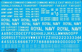 "Xtradecal X48045 1/48 RAF White Letters, Numerals 4"" ,8"" and 12"" Model Decals - sgs-model-store-com"