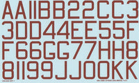 "Xtradecal X48048 1/48 RAF WWII 48"" x 30"" bomber code letters numbers red Decals - SGS Model Store"