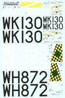Xtradecal X48054 1/48 BAC/EE Canberra B.2 Part 2 Model Decals - SGS Model Store