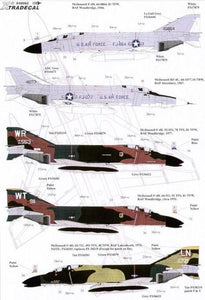 Xtradecal X48062 1/48 USAFE F-4D and RF-4C Phantoms in England Pt 1 Model Decals