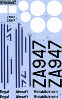 Xtradecal X48065 1/48 Douglas C-47 Dakota, the History of ZA947 Model Decals - SGS Model Store