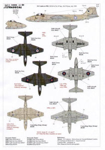 Xtradecal X48066 1/48 BAC/EE Canberra Pr.9 Model Decals - sgs-model-store-com